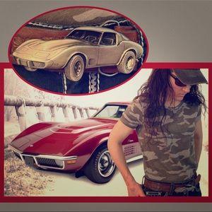 Vntg 1979 Corvette Stingray buckle leather belt